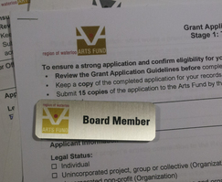 Arts Fund Board of Directors badge